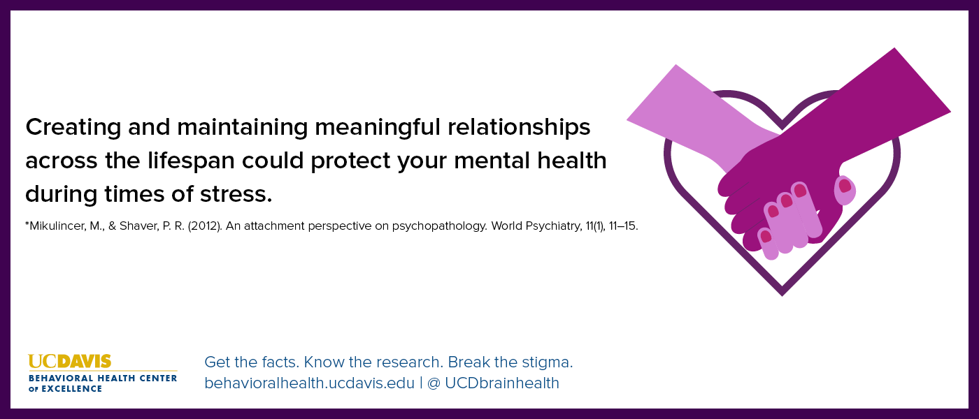 Creating and maintaining relationships protects mental well-being